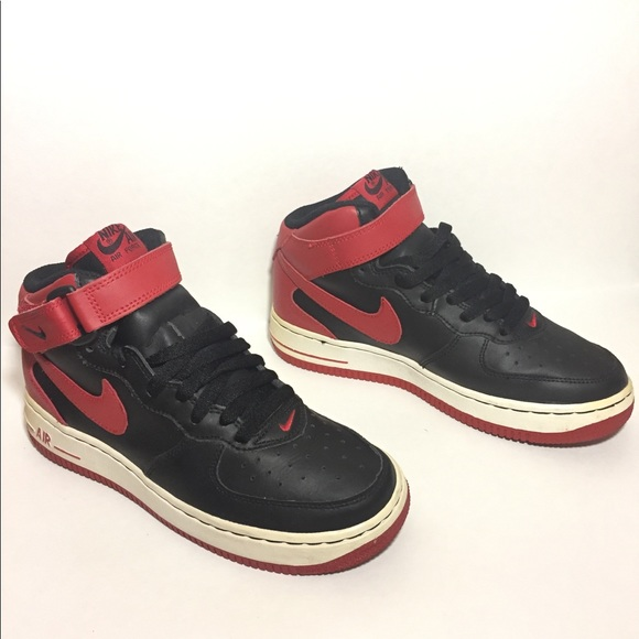 huge selection of 48d56 db5ab Nike Air Force 1 MID GS Size 5Y Black  Red-White. M 5be11ac2fe515136e9c5abd0